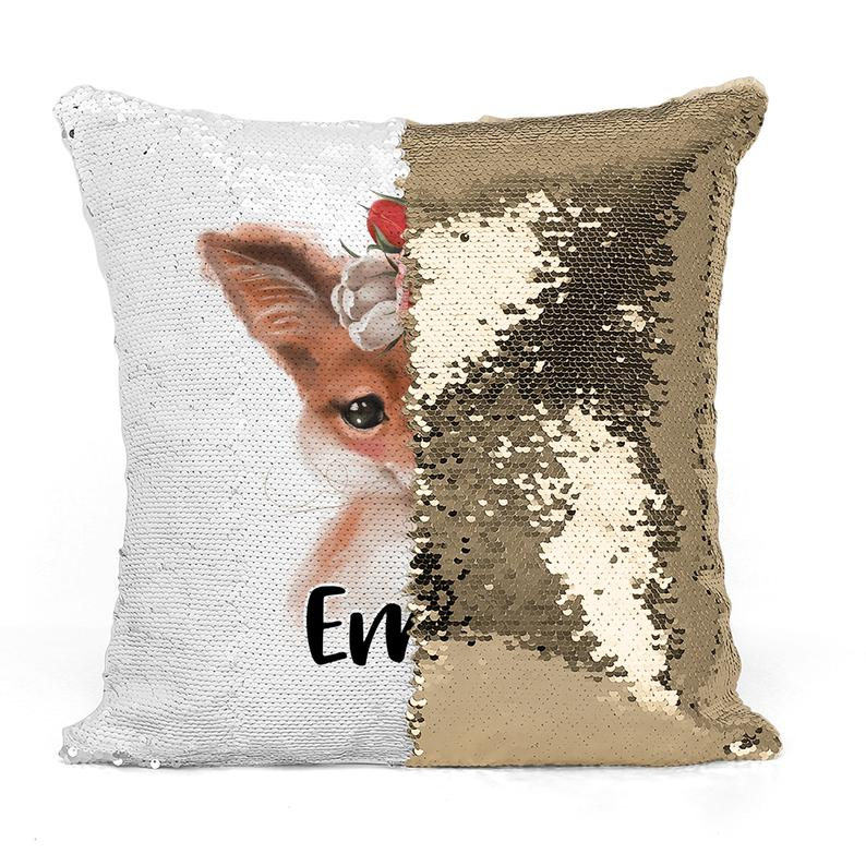 Woodland Baby Fox - Personalised Cushion Cover - Mikki & Me Kids