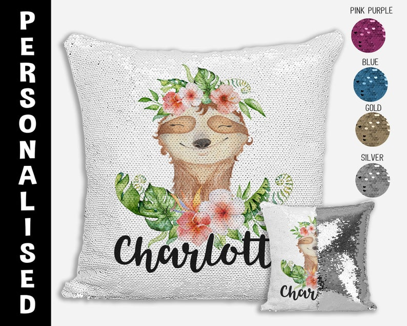 Sloth - Personalised Cushion Cover - Mikki & Me Kids