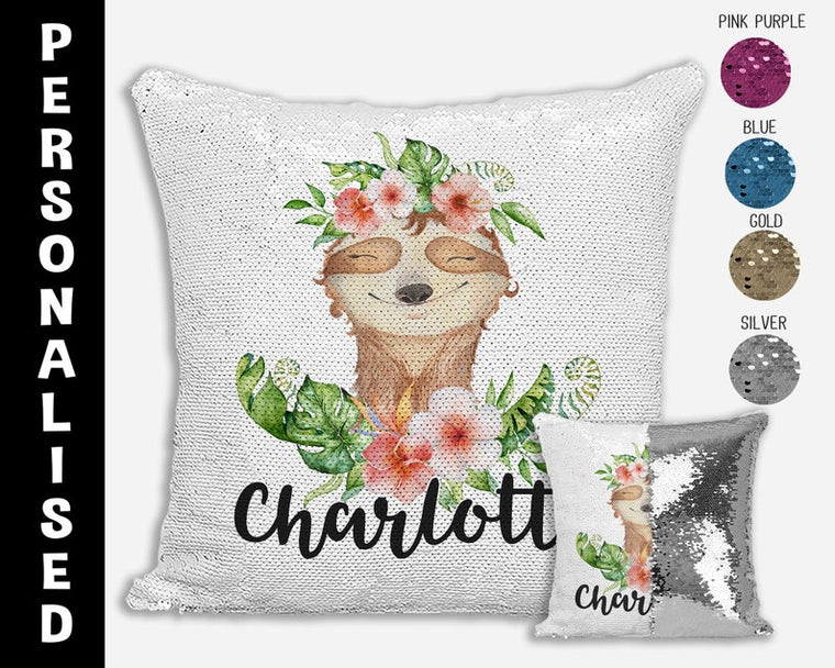Sloth - Personalised Cushion Cover
