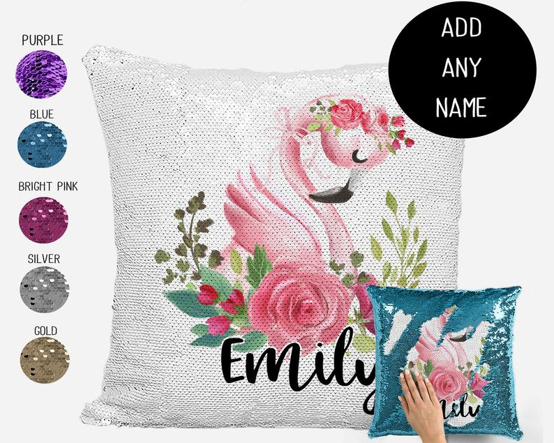 Swan - Personalised Cushion Cover - Mikki & Me Kids