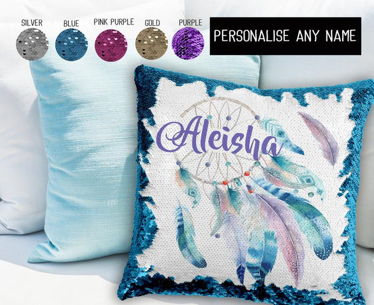 Watercolour Dreamcatcher - Personalised Cushion Cover