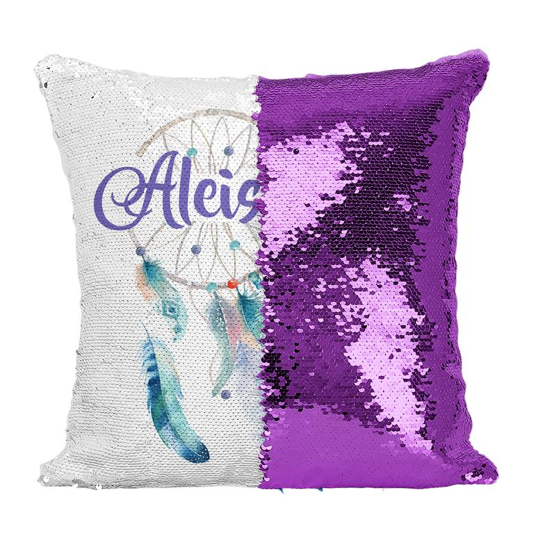 Watercolour Dreamcatcher - Personalised Cushion Cover - Mikki & Me Kids