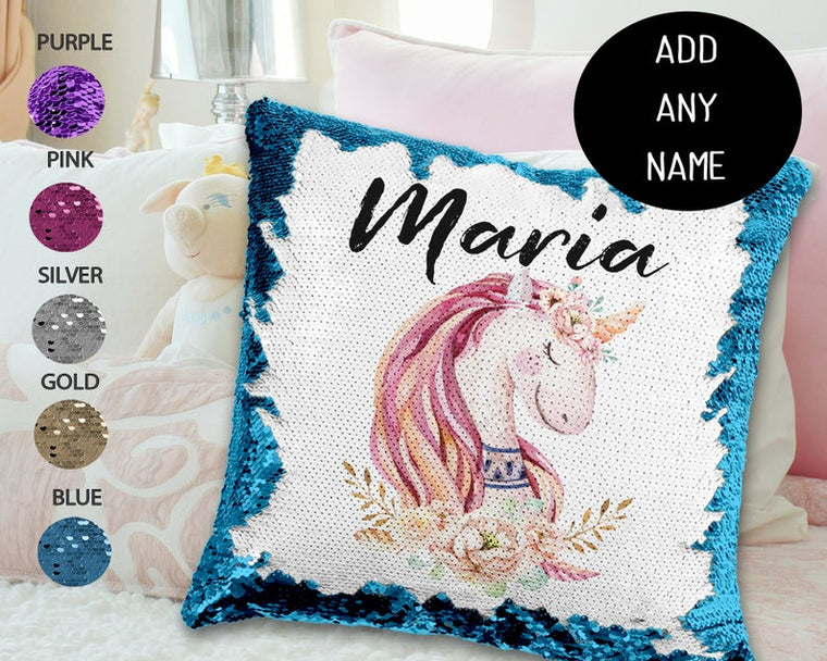 Vintage Unicorn - Personalised Cushion Cover - Mikki & Me Kids