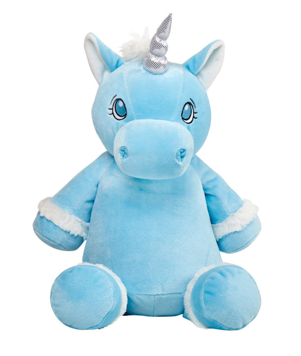 Blue Unicorn cubbie personalised