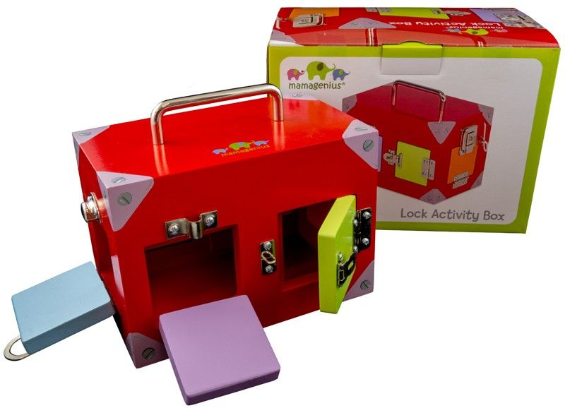 Small Coloured Lock Activity Box (Last 1!) - Mikki & Me Kids