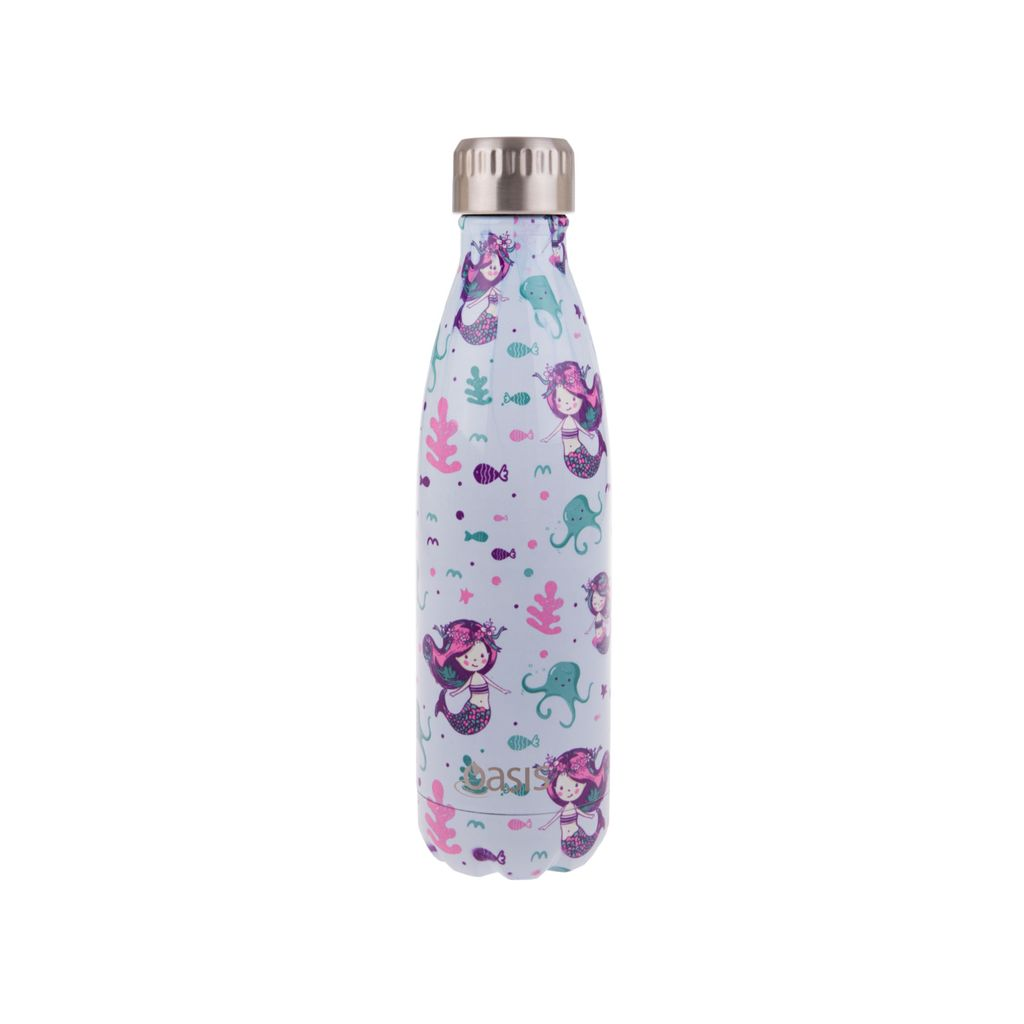 OASIS Stainless Steel Insulated Drink Bottle - Mermaid 500ml - Mikki & Me Kids