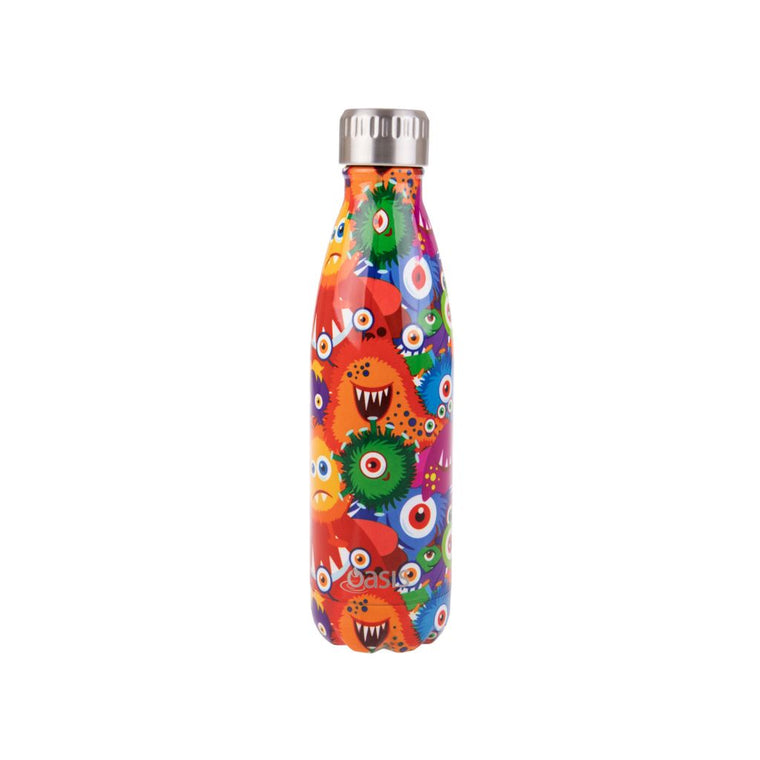 OASIS Stainless Steel Insulated Drink Bottle - Monsters 500ml - Mikki & Me Kids