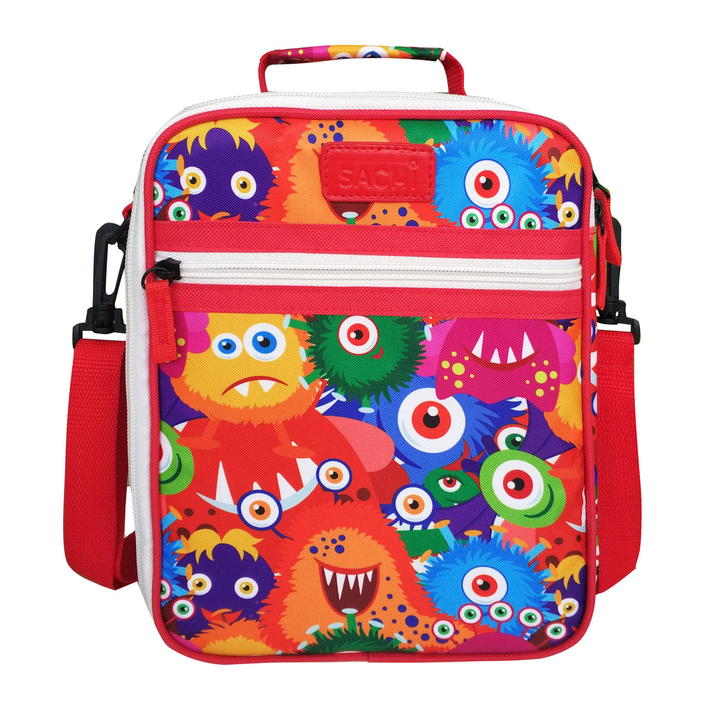 Sachi Insulated Junior Lunch Tote - Monsters - Mikki & Me Kids