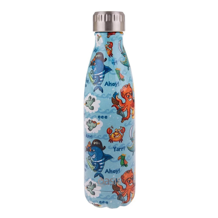 OASIS Stainless Steel Insulated Drink Bottle - Pirate Bay 500ml - Mikki & Me Kids