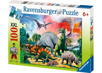 Ravensburger - Among the Dinosaurs Puzzle 100 pieces - Mikki & Me Kids
