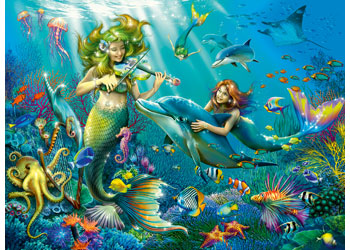 Ravensburger - Underwater Beauties GLITTER 100 pieces - Mikki & Me Kids