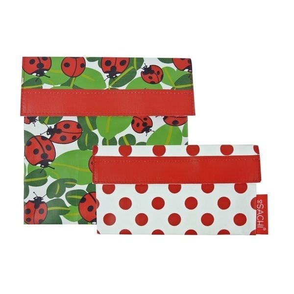 Sachi Reusable Lunch Pockets - Ladybug - Mikki & Me Kids