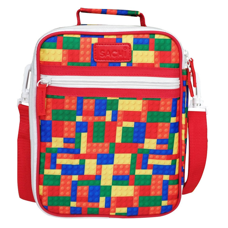 Sachi Insulated Junior Lunch Tote - Bricks