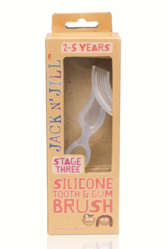 Jack & Jill Silicone Tooth & Gum Brush 2-5yrs - Mikki & Me Kids