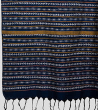 Load image into Gallery viewer, Blue Khesh Kantha Saree-Pallu Detail