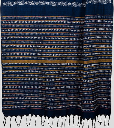 Load image into Gallery viewer, Blue Khesh Kantha Saree-Pallu