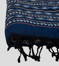Load image into Gallery viewer, Blue Khesh Kantha Saree-Tassel