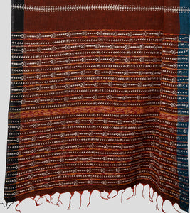 Brown Missing Weave Khesh Kantha Saree-Pallu