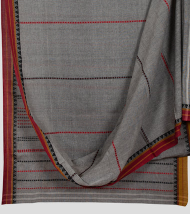 Grey Begumpuri Cotton Saree-Body