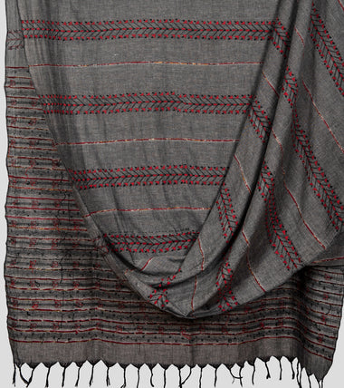 Grey Khesh Kantha Saree-Body