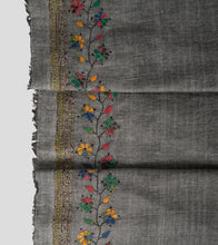 Load image into Gallery viewer, Grey Multicolour Khesh Kantha Saree-Blouse Piece