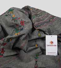 Load image into Gallery viewer, Grey Multicolour Khesh Kantha Saree-Detail