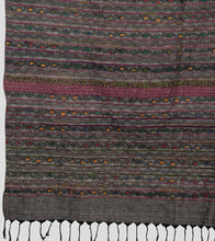 Load image into Gallery viewer, Grey Multicolour Khesh Kantha Saree-Pallu Detail