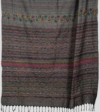 Load image into Gallery viewer, Grey Multicolour Khesh Kantha Saree-Pallu