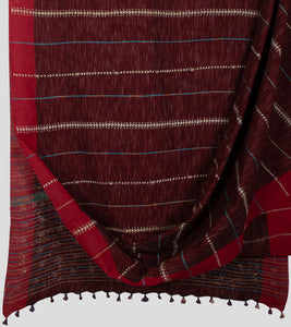 Maroon Jharna Khesh Kantha Saree-Body