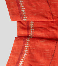 Load image into Gallery viewer, Orange Jharna Khesh Kantha Saree-Blouse Piece