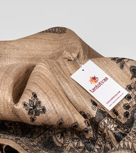 Load image into Gallery viewer, Raw Madhubani Pure Ghicha Tussar Silk Saree-Detail