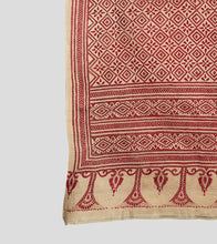 Load image into Gallery viewer, Beige N Red Gacchi Tussar Kantha Saree-Pallu Detail