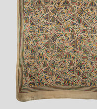 Load image into Gallery viewer, Cream Multicolor Gacchi Tussar Nakshi Kantha Saree-Pallu Detail