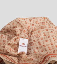 Load image into Gallery viewer, Beige N Orange Tussar Kantha Saree-Detail