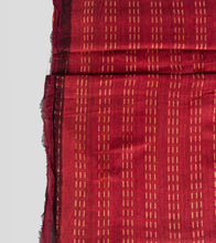 Load image into Gallery viewer, Maroon Khadi Cotton Brocade Saree-Blouse Piece