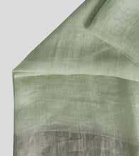 Load image into Gallery viewer, Light Green Linen Zari Saree-Blouse Piece