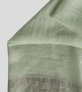 Light Green Linen Zari Saree-Blouse Piece
