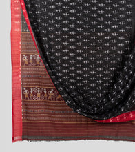 Load image into Gallery viewer, Black N Red Sambalpuri Cotton Saree-Body