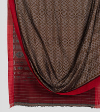 Load image into Gallery viewer, Olive Green N Red Sambalpuri Cotton Saree-Body