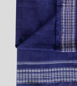 Blue Sambalpuri Cotton Saree-Blouse Piece