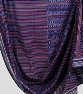 Blue Sambalpuri Cotton Saree-Body