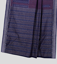 Load image into Gallery viewer, Blue Sambalpuri Cotton Saree-Pallu