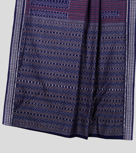 Blue Sambalpuri Cotton Saree-Pallu