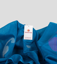 Load image into Gallery viewer, Blue Bengal Silk Cotton Jamdani Saree-Detail