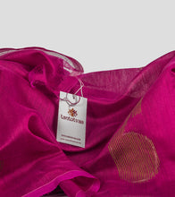 Load image into Gallery viewer, Magenta Bengal Silk Cotton Jamdani Saree-Detail
