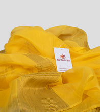 Load image into Gallery viewer, Yellow Neemzari Silk Cotton Saree-Detail