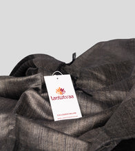 Load image into Gallery viewer, Grey Tussar Silk Saree-Detail
