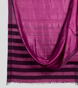 Magenta Pink Tussar Saree-Body