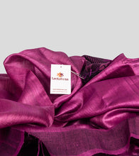 Load image into Gallery viewer, Magenta Pink Tussar Saree-Detail