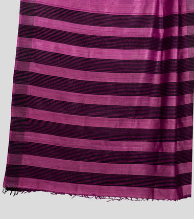 Load image into Gallery viewer, Magenta Pink Tussar Saree-Pallu
